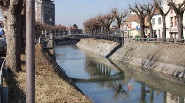 Il fiume Adigetto a Badia Polesine (foto Donzelli)