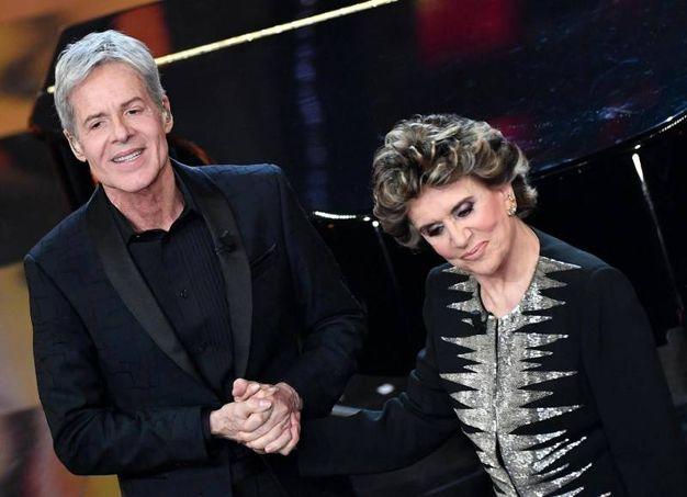 Claudio Baglioni e Franca Leosini (Ansa)