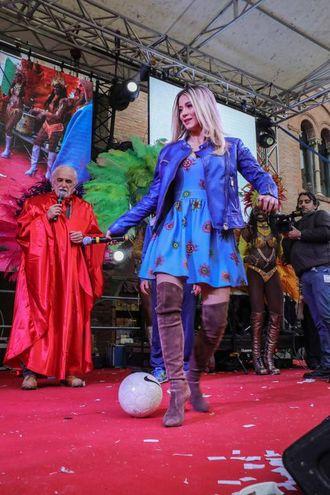 Diletta Leotta al Carnevale di Cento (foto Samaritani)