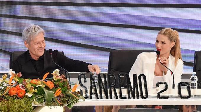 Sanremo 2018, Baglioni e Hunziker presentano la terza serata (LaPresse)