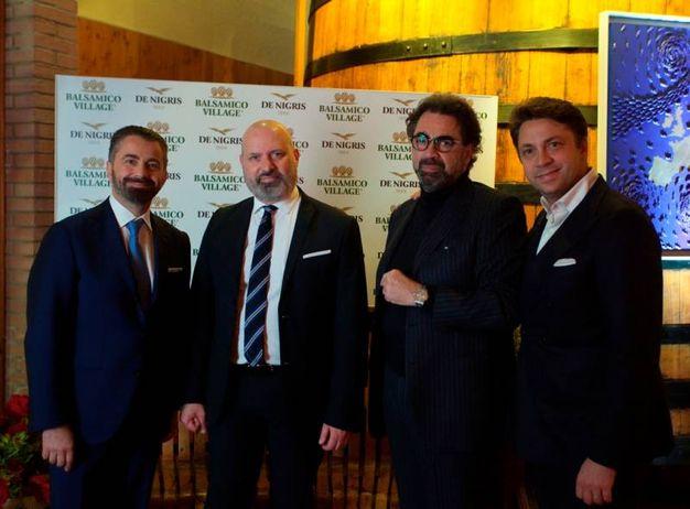 Raffaele De Nigris, Stefano Bonaccini, Armando e Luca De Nigris (foto Cabri)
