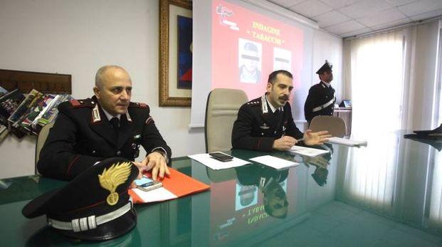 La conferenza stampa dei carabinieri