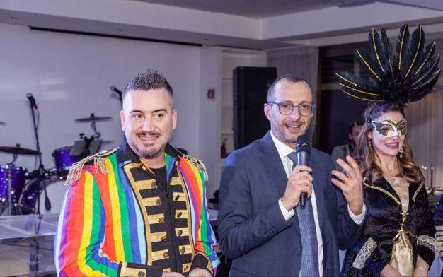 Filippo Carboni con il sindaco Ricci