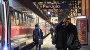 La partenza del Frecciarossa da Perugia (Foto Crocchioni)