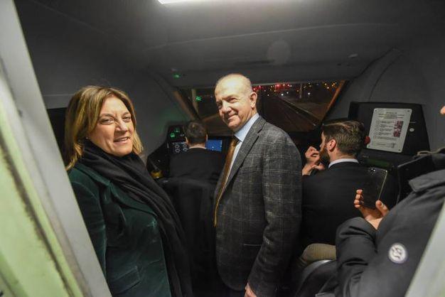 A bordo del Frecciarossa Perugia-Milano (Foto Crocchioni)