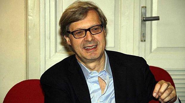 Vittorio Sgarbi candidato Forza Italia a Modena