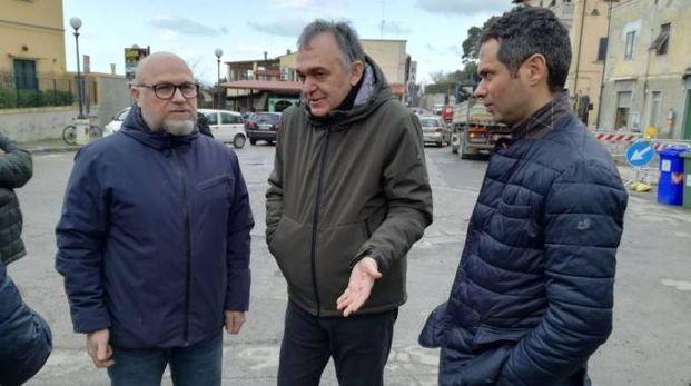 Il governatore Rossi con il sindaco Filippo Nogarin