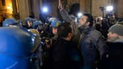 Manifestanti di Forza Nuova (Foto Calavita)