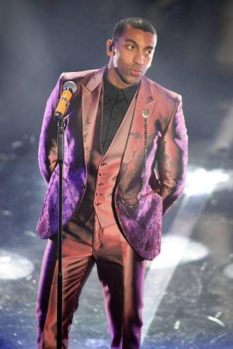 Spigliato e sicuro di sé, il rapper 31enne sambenedettese di origini italo-congolese (Foto Lapresse)