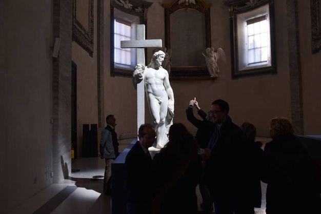 L'interno dell'esposizione 'L'eterno e il tempo tra Michelangelo e Caravaggio' (foto Fantini)