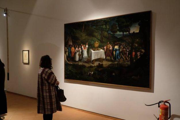 Il vernissage della mostra dedicata a Michelangelo e Caravaggio (foto Frasca)