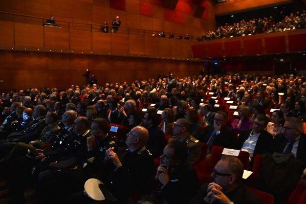 Il pubblico presente in sala alla presentazione della mostra ai Musei San Domenico (foto Fantini)