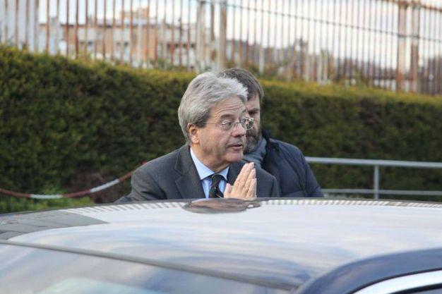 L'arrivo di Paolo Gentiloni (foto Labolognese)