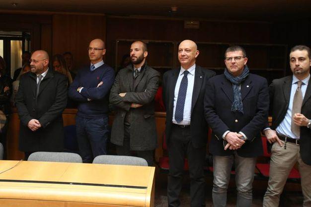 Il saluto a palazzo di giustizia  al pm Antonio Nastasi (Foto Di Pietro)
