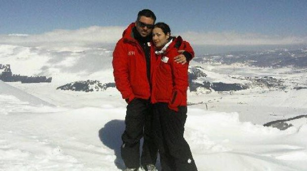 Francesca Sandrini con il marito Daniele Toffetti