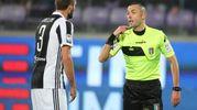 L'arbitro Guida e Chiellini (foto Germogli)