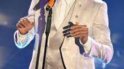 Mudimbi ieri sul palco dell'Ariston per la seconda esibizione (Ansa)