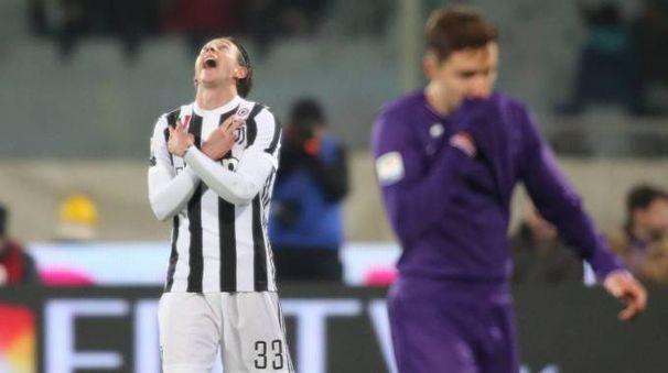Bernardeschi esulta dopo il gol dello 0-1 (foto Germogli)
