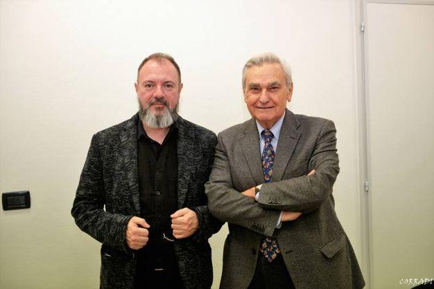 Roberto Armenia con Carlo Lucarelli (Foto Fiocchi)