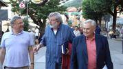 Roberto Armenia con Francesco Guccini (Foto Fiocchi)