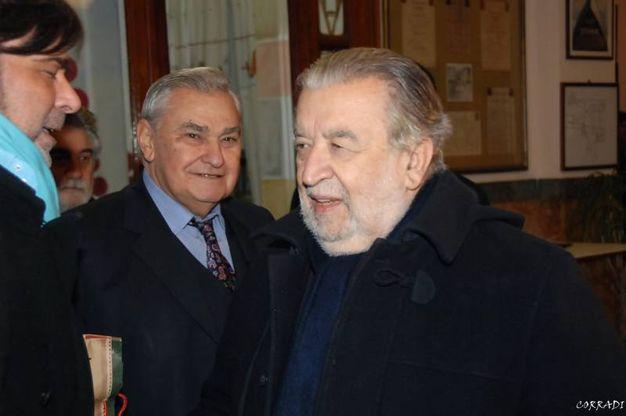 Roberto Armenia con Pupi Avati (Foto Fiocchi)