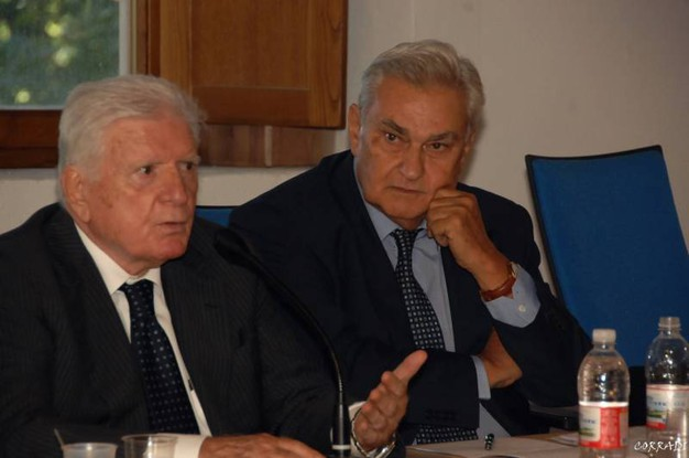 Roberto Armenia con Sergio Zavoli (Foto Fiocchi)