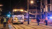 L'arrivo di un convoglio della tramvia fino a viale Morgagni con lo scopo di testare la nuova tratta. Presenti il sindaco Nardella e l'assessore Giorgetti (Giuseppe Cabras/NewPressphoto)