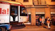 L'arrivo di un convoglio della tramvia fino a viale Morgagni con lo scopo di testare la nuova tratta. Presenti il sindaco Nardella e l'assessore Giorgetti (Giuseppe Cabras/New)Pressphoto