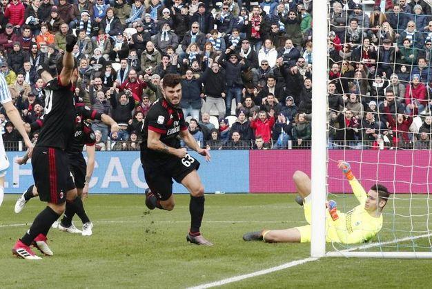 Spal-Milan 0-1, gol di Cutrone (Ansa)