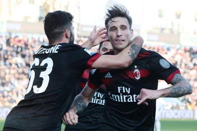 Spal-Milan o-3, gol di Biglia (Ansa)