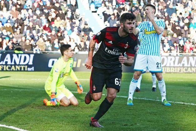 Il Milan travolge la Spal con un 4-0: Cutrone autore di una doppietta (foto Ansa)