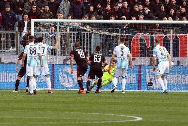Il gol di Cutrone al 2' (foto Ansa)