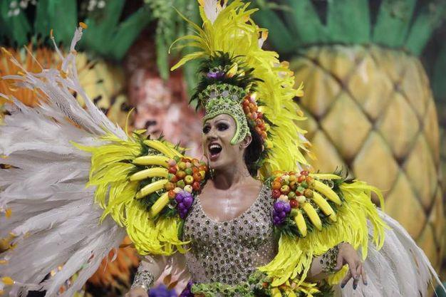 San Paolo, la scuola di samba Rosas de Ouro (Ansa)