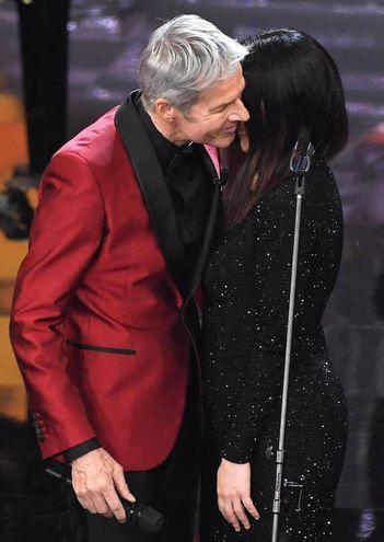 Claudio Baglioni e Laura Pausini (Ansa)