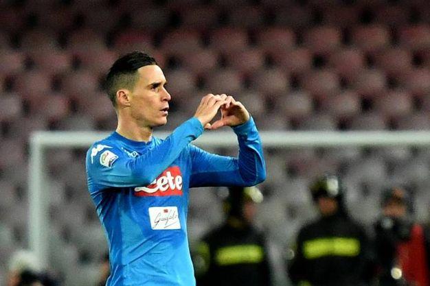 Napoli-Lazio 1-1, Callejon (Ansa)