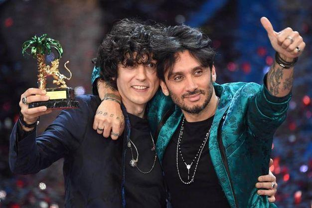 I vincitori Ermal Meta e Fabrizio Moro (Ansa)