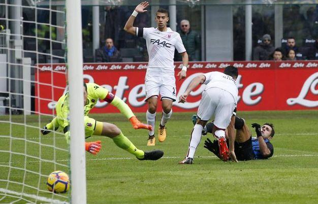 Inter-Bologna 1-0, Eder (Ansa)