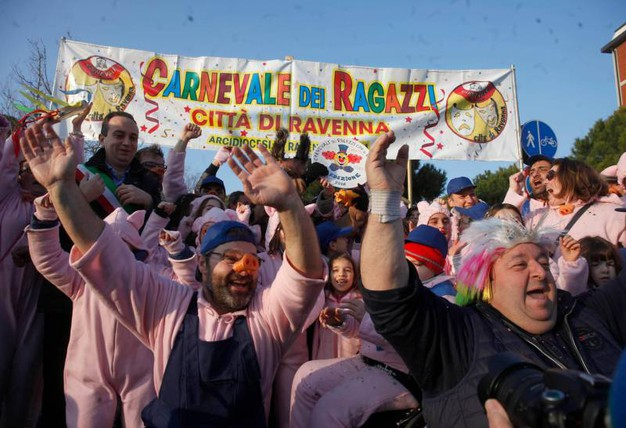 A Marina di Ravenna il Carnevale dei Ragazzi (foto Corelli)