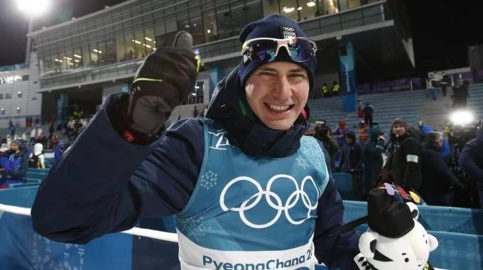 Olimpiadi invernali 2018, la gioia di Dominik Windisch (LaPresse)
