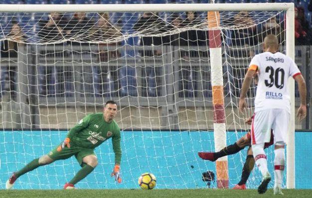 Roma-Benevento 5-2, Defrel (Ansa)
