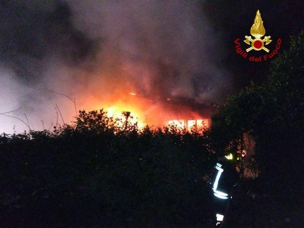 La casa andata a fuoco