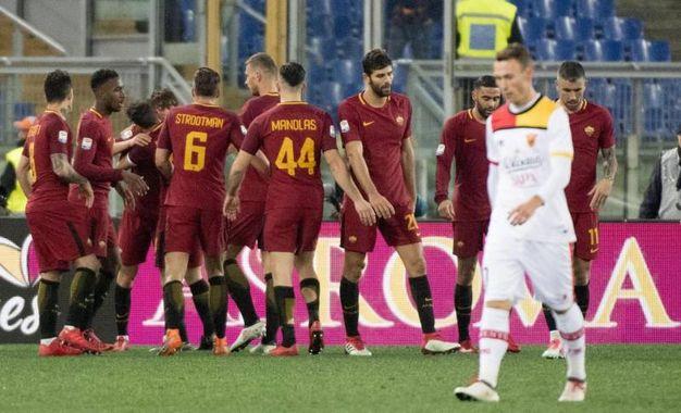 Roma-Benevento 4-1, Under (Ansa)
