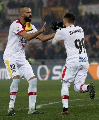 Roma-Benevento 4-2, Brignola (Ansa)