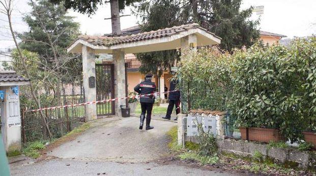 La villetta di Rende dove un'intera famiglia è stata trovata morta (Ansa)