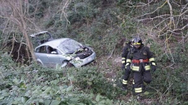 L'incidente a Monterubbiano (Foto Zeppilli)