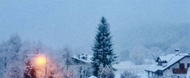 Neve a Belluno (Foto Twitter/@pandaudrey)