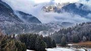 La neve dell'AlpeCimbra (Foto Twitter /@pizzo_76)
