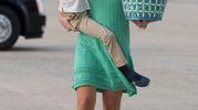 Vanessa Trump col figlio Tristan nell'aprile scorso (Afp)