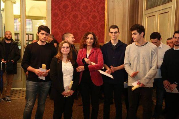 Un momento della premiazione in Sala Rossa (Foto Schicchi)