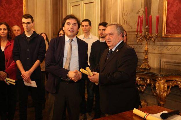 Presente Marino Segnan, presidente dell'Anvgd(Foto Schicchi)